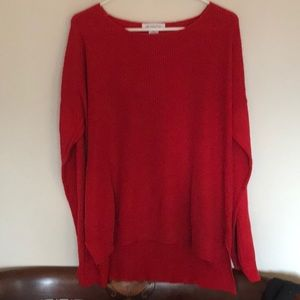 Little red sweater!  Two weaves in one. Size XL